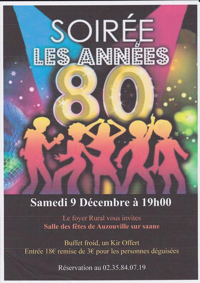 Soirée Disco à Auzouville-sur-Saâne – 9 Décembre 2017