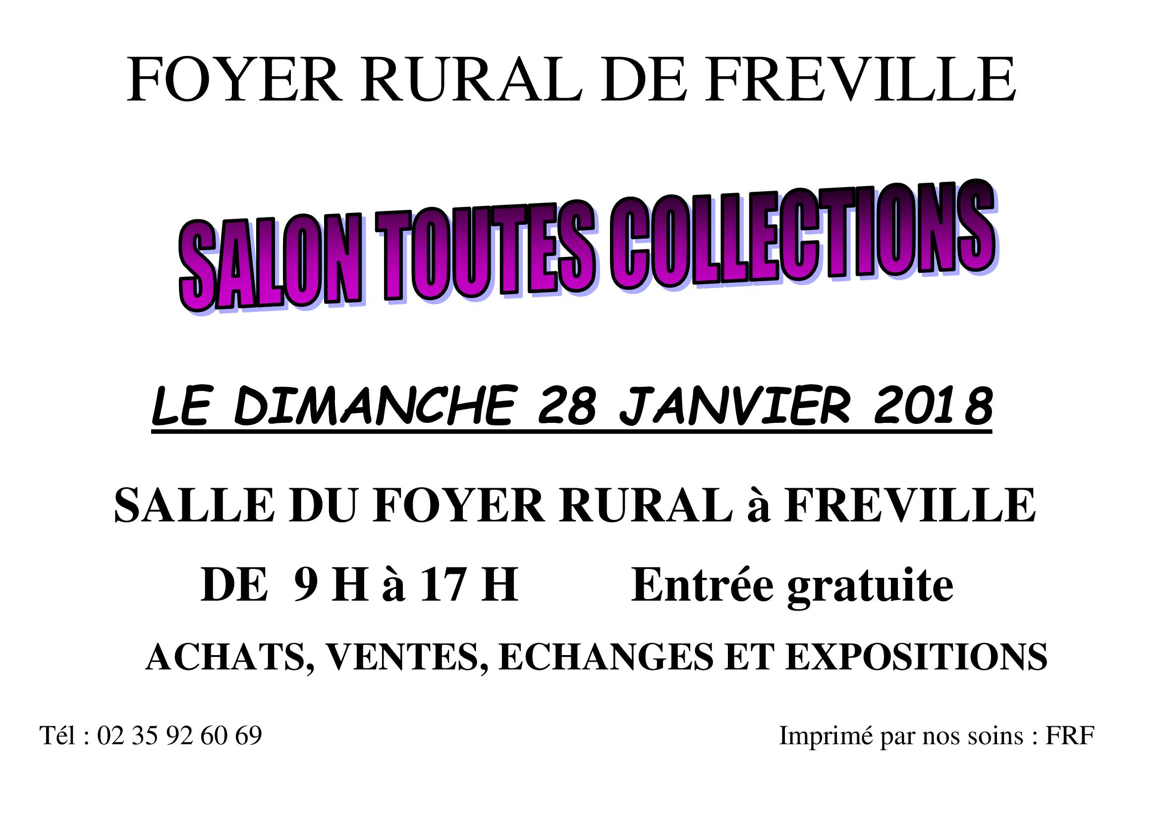 Salon toutes Collections à Fréville- Dimanche 28 Janvier 2018