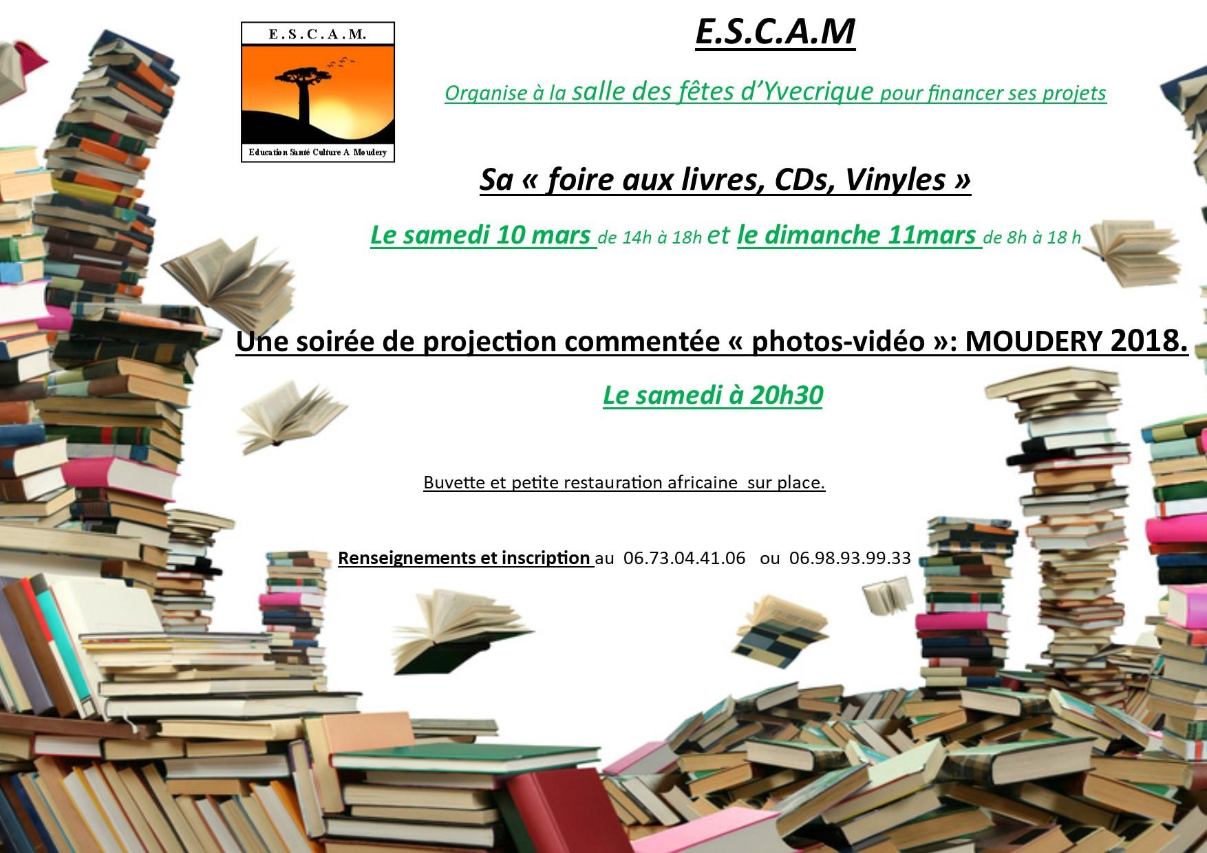 E.S.C.A.M – Foire aux livres, CDS