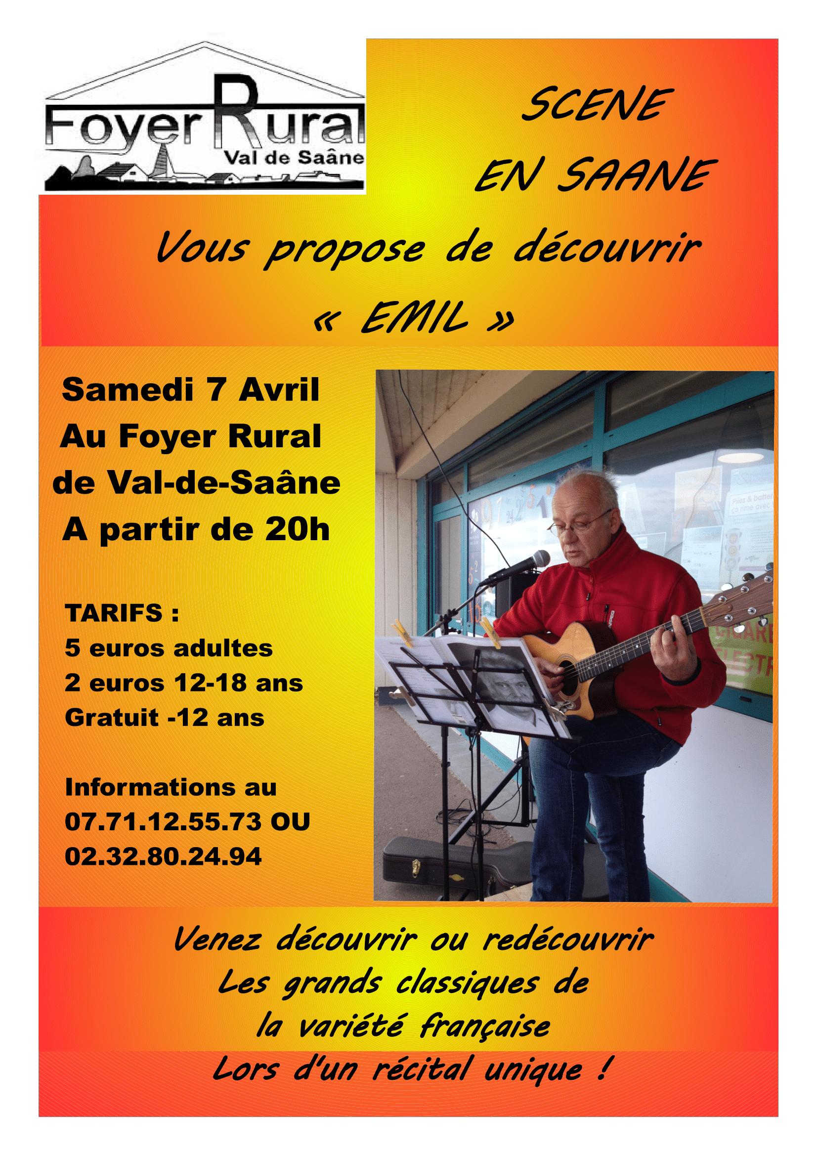 Scène en Saâne – Samedi 7 Avril 2018