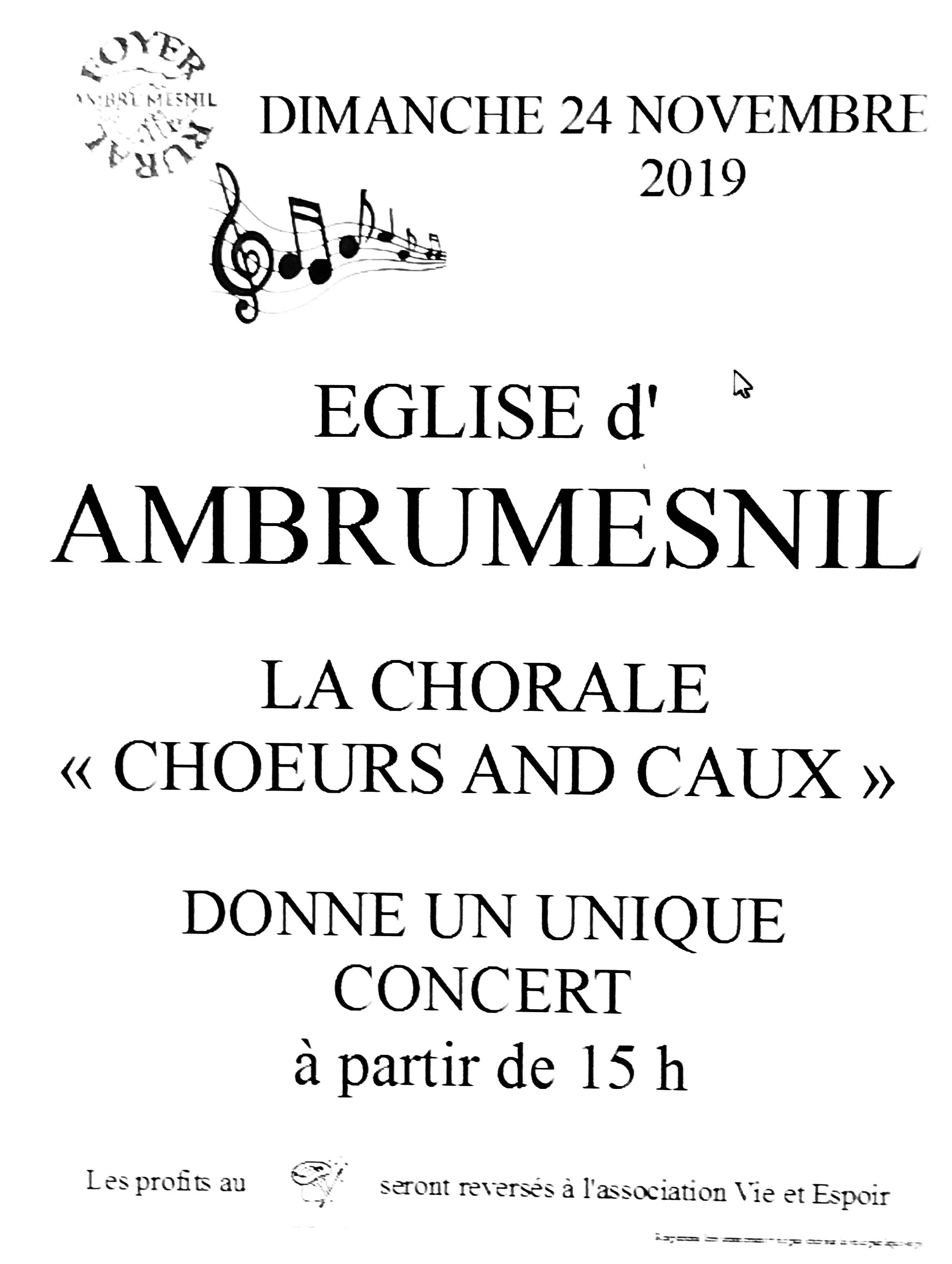 CONCERT  DIMANCHE 24 NOVEMBRE A 15H à Ambrumesnil